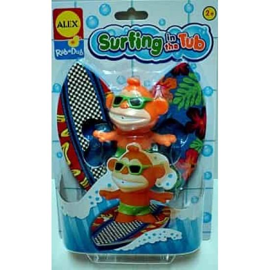Alex rub-a-dub surfing in the tub