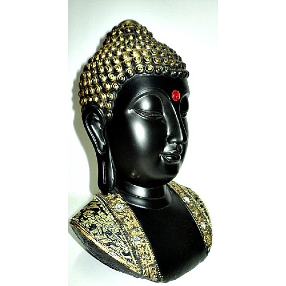 bouddha zen buste en r sine. Black Bedroom Furniture Sets. Home Design Ideas