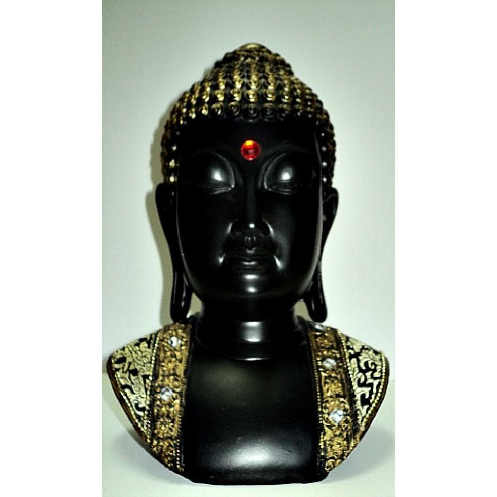 interesting bouddha zen buste en rsine with image bouddha zen. Black Bedroom Furniture Sets. Home Design Ideas