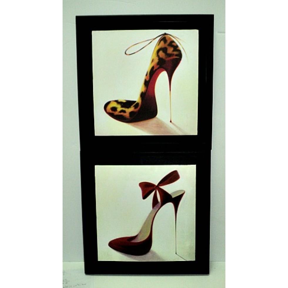 ensemble de 2 cadres souliers talons hauts. Black Bedroom Furniture Sets. Home Design Ideas