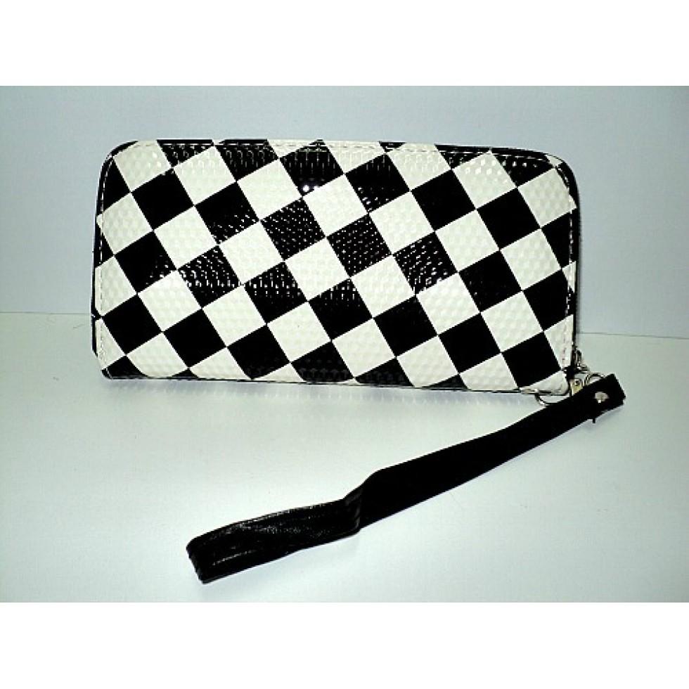 Portefeuille noir et blanc carreaux - Carreaux noir et blanc ...