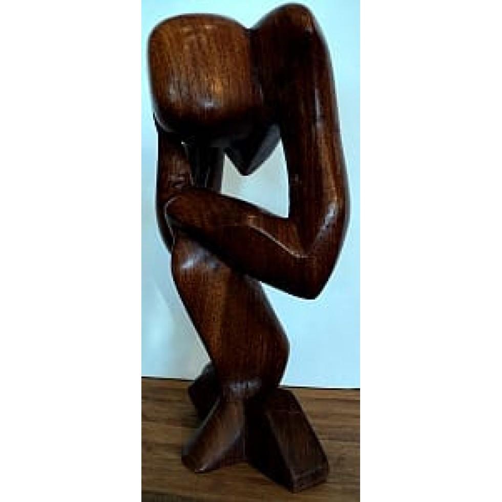 sculpture en bois le penseur de rodin boutique cadeaux gimi. Black Bedroom Furniture Sets. Home Design Ideas