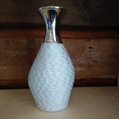 Vase ceramique gris fini stainless grand format