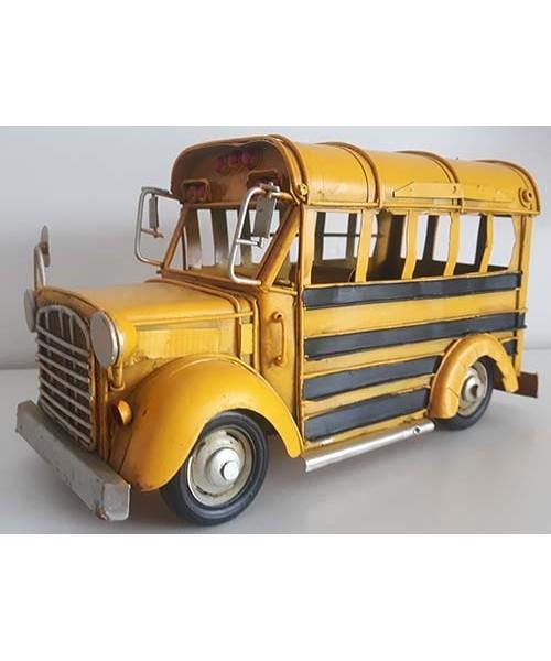 Autobus scolaire métal jaune
