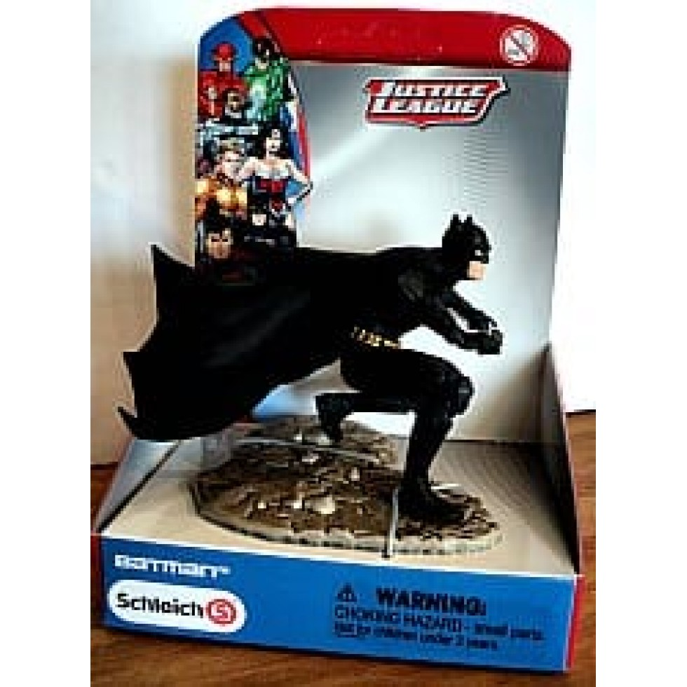 Batman en position accroupie justice league de schleich