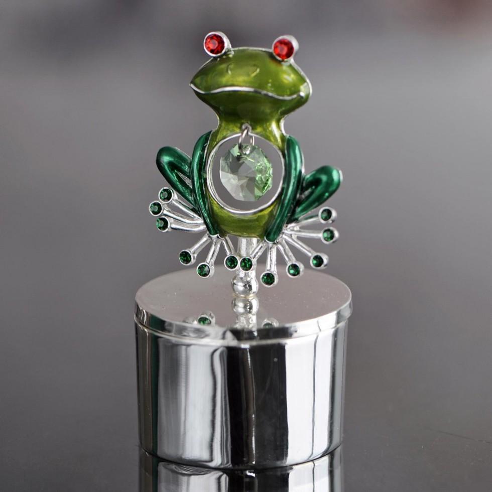 Porte-bijoux en stainless steel avec grenouille