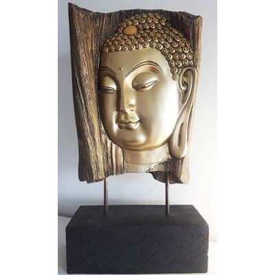 Bouddha arbre or sur base noire