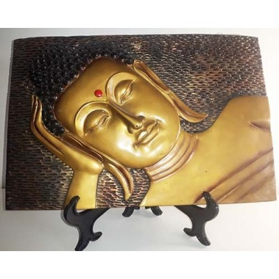 Bouddha cadre or