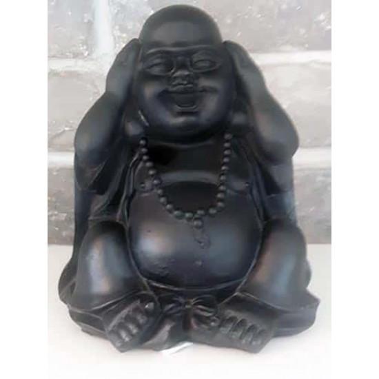 Bouddha Chinois en résine noir