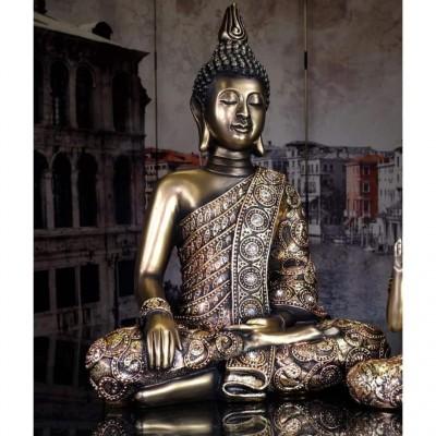 Bouddha couleurs bronze et or