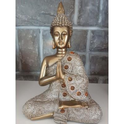 Bouddha or gris doré offrande ou hommage