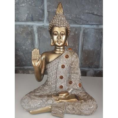 Bouddha or gris doré protection