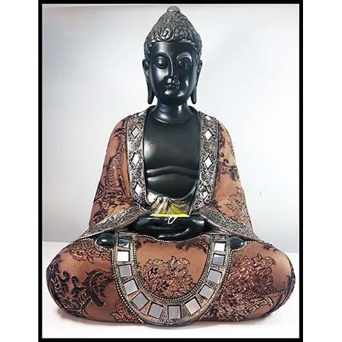 Bouddha thai assis brun et or