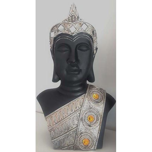 Bouddha Thaï buste gris et noir
