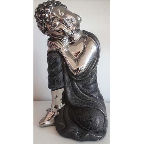 Bouddha Thaï repos stainless et gris