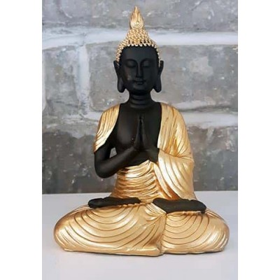 Bouddha thailandais noir or prieur