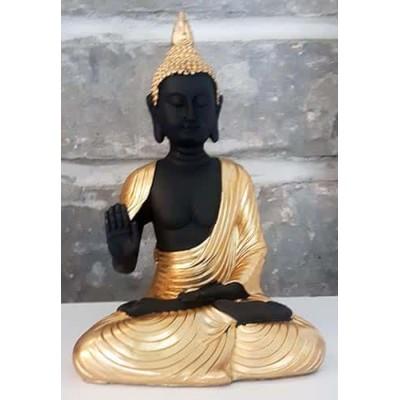 Bouddha thailandais noir or protection