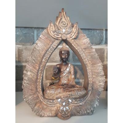 Bouddha vestige brun doré