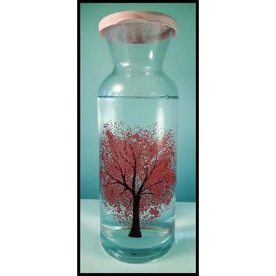Bouteille en verre changeant de couleur selon la température de l'eau...