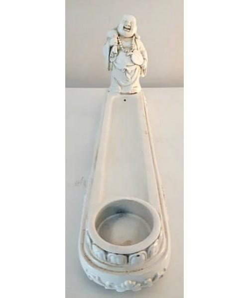 Bruleur encens Bouddha chinois blanc
