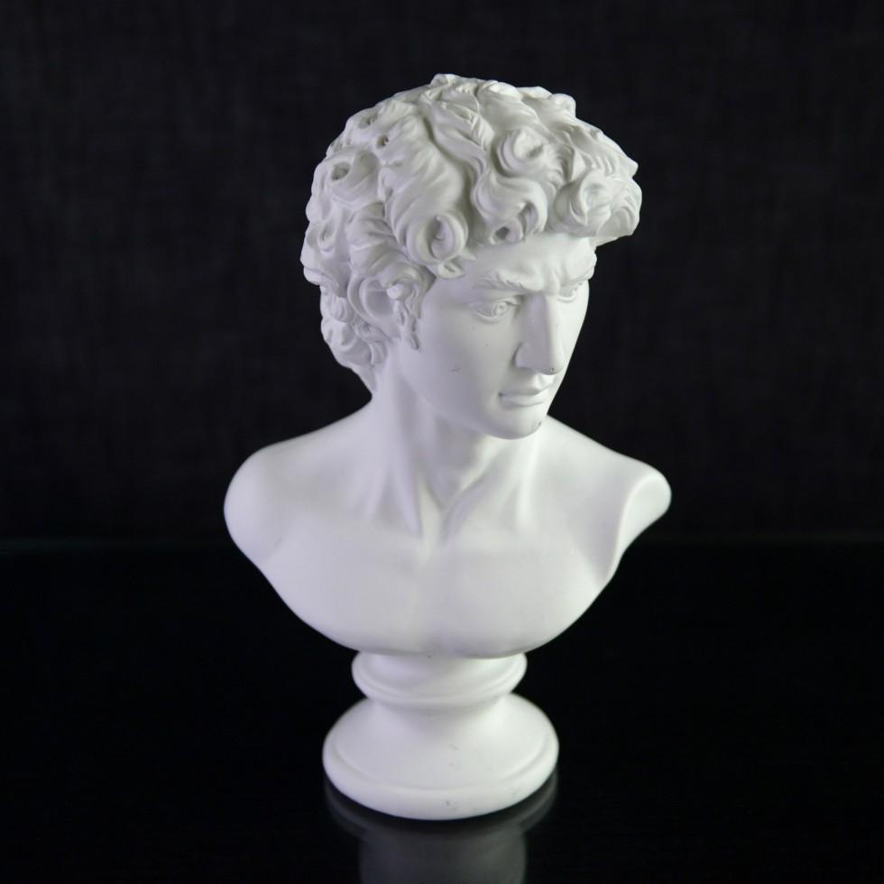 Buste de David en résine et bois
