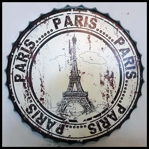 Cadre Paris tour Eiffel en métal