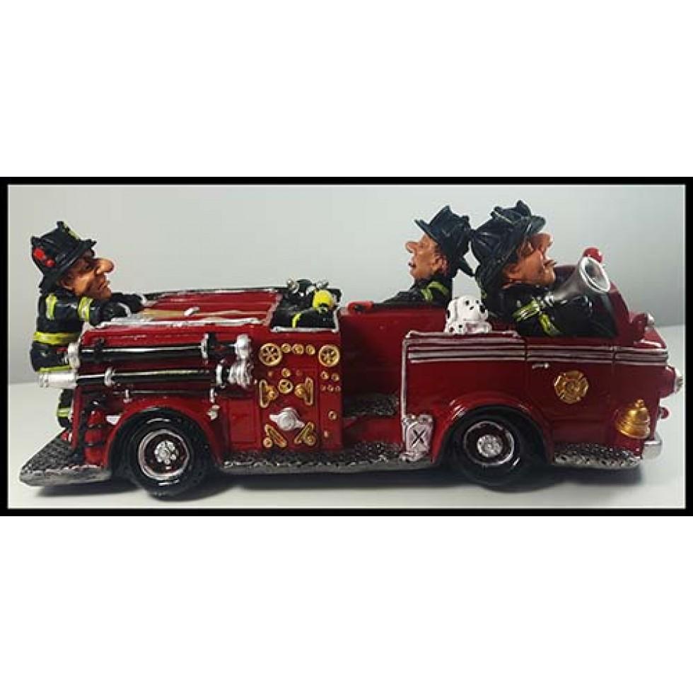 Camion de pompier banque en résine