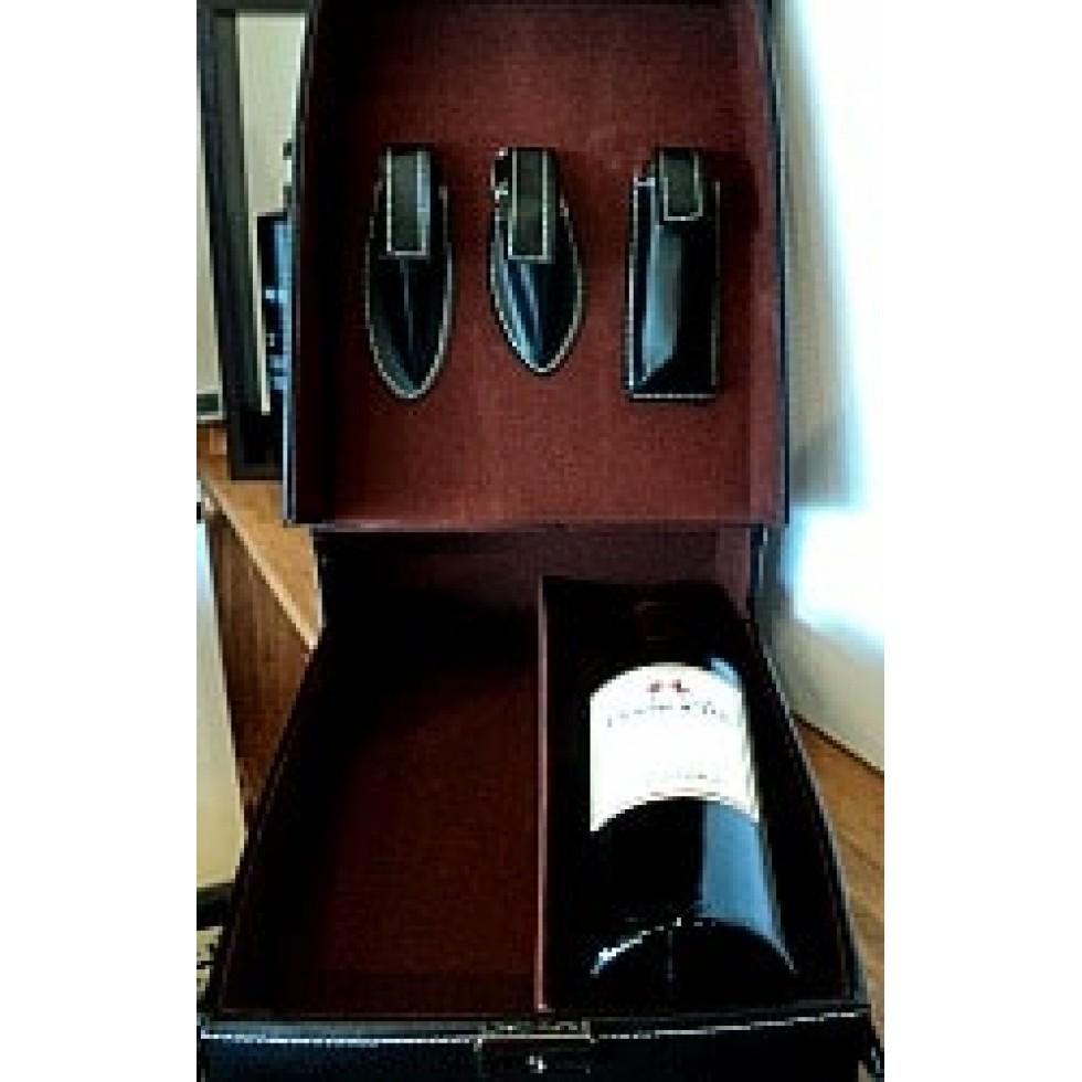Coffret de rangement et de transport pour deux bouteilles de vin
