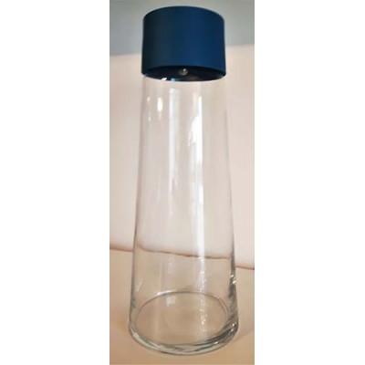 Contenant liquide froid verre bleu