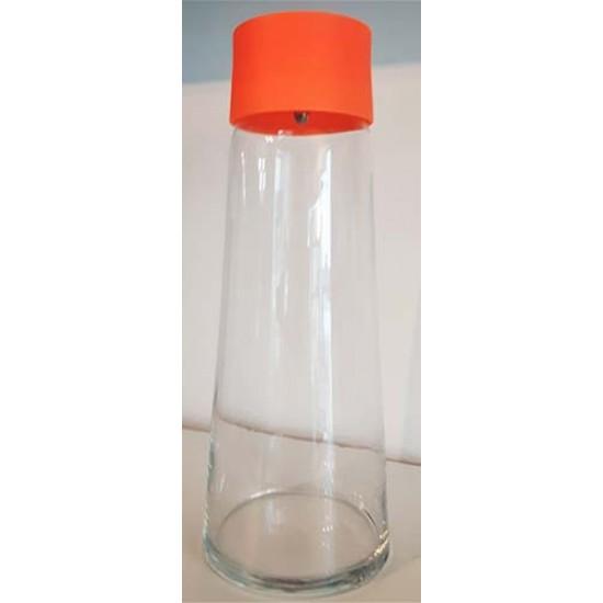Contenant liquide froid verre orange