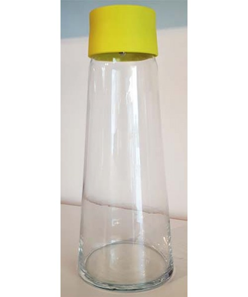 Contenant liquide froid verre jaune