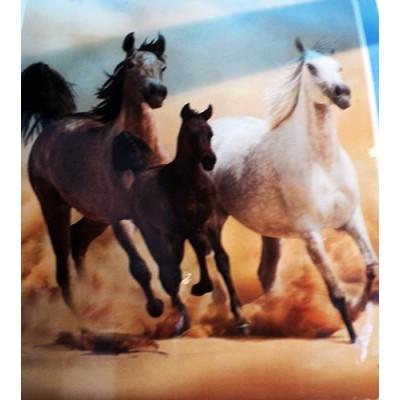 Couverture Doudou chevaux galopants