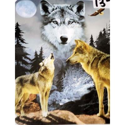 Couverture Doudou loups hurlent pleine lune