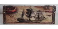 Couvre-boite à mouchoirs bateaux