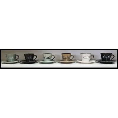 Ensemble 12 morceaux tasses et soucoupes cappuccino
