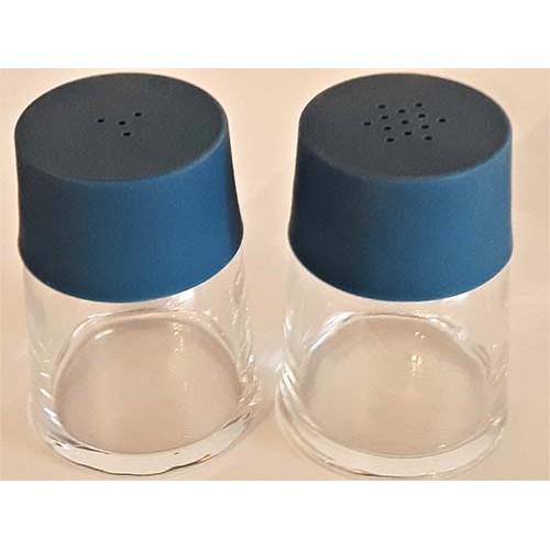 Ensemble sel et poivre verre bleu