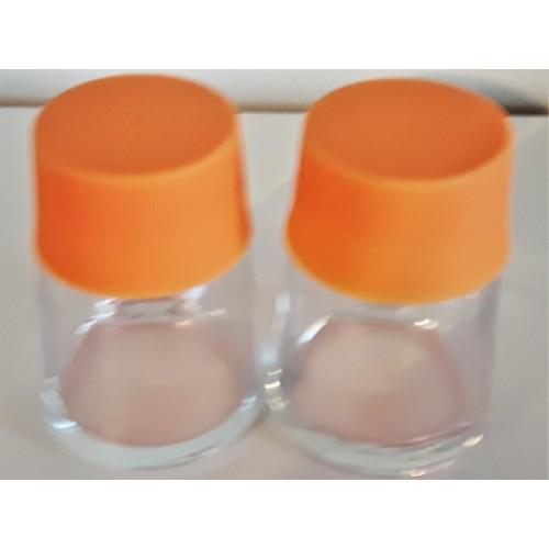 Ensemble sel et poivre verre orange