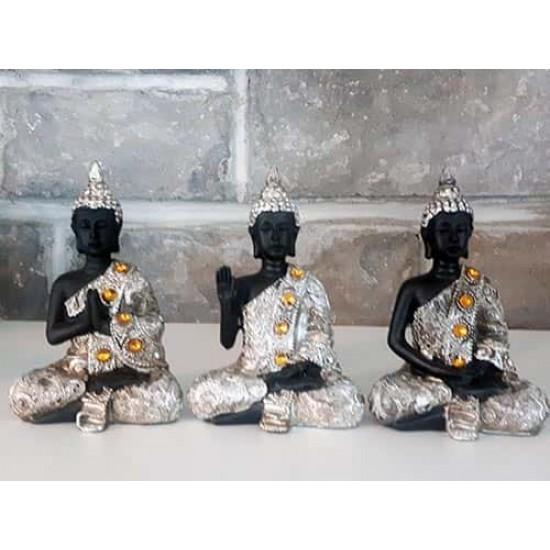 Ensemble de trois bouddha gestes symboliques
