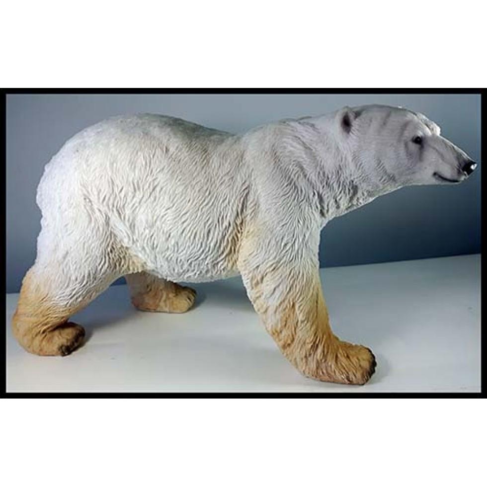 Gros ours polaire en résine