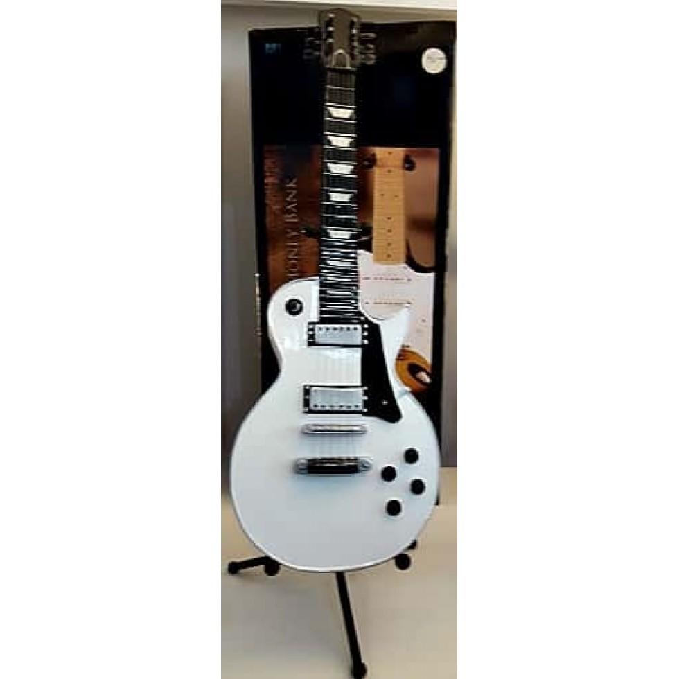 Guitare noire et blanche décorative