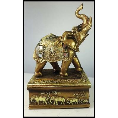 Coffret or avec éléphant debout