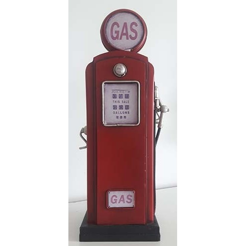 Pompe à gas métal rouge