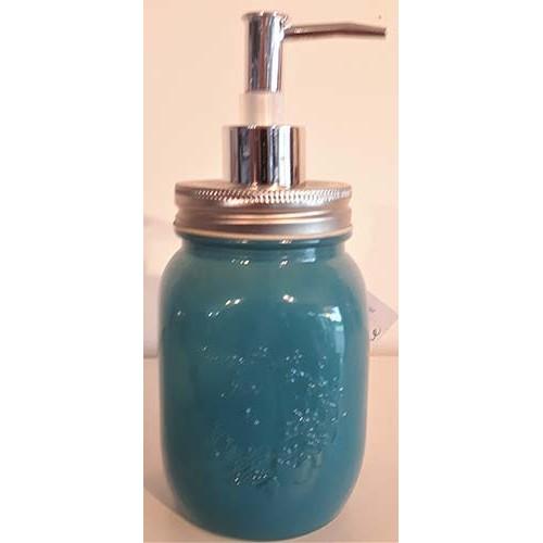 Pompe savon mason bleu foncé