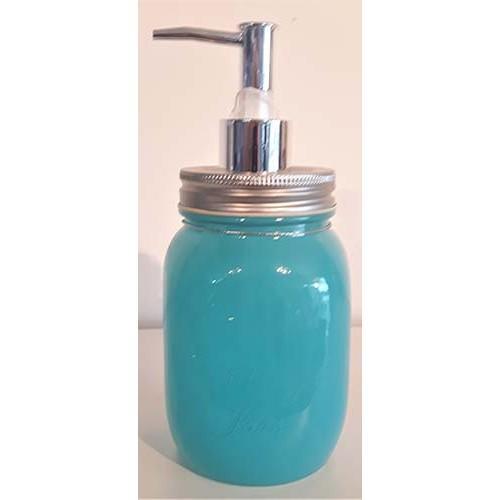 Pompe savon mason bleu pâle