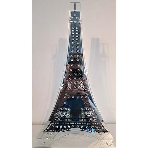Porte-bougies tour Eiffel miroir