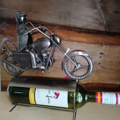 Porte-bouteille de vin décoratif bicycle à gaz