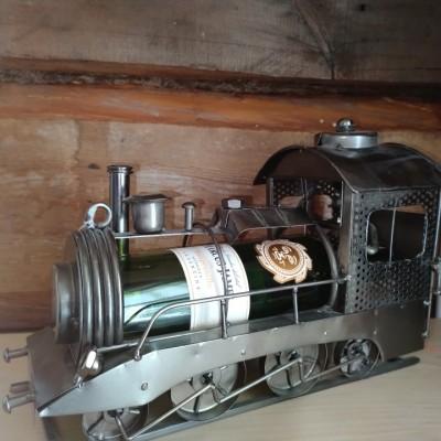 Porte-bouteille de vin décoratif train