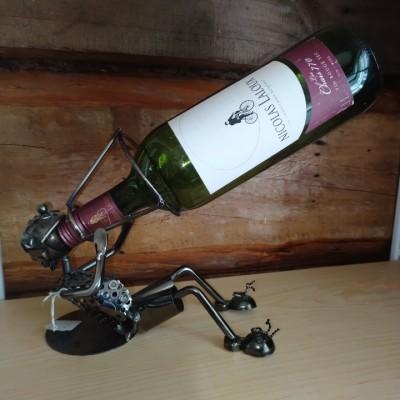 Porte-bouteille de vin décoratif buveur de vin