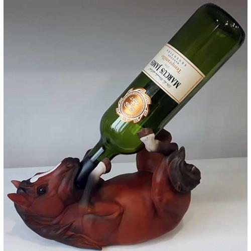 Porte-bouteille de vin cheval