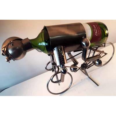 Porte-bouteille de vin cycliste